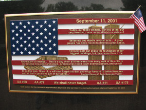 9-11 Memorial Plaque from Flicker user geopungo